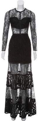 Alexis Long Sleeve Lace Maxi Dress w/ Tags
