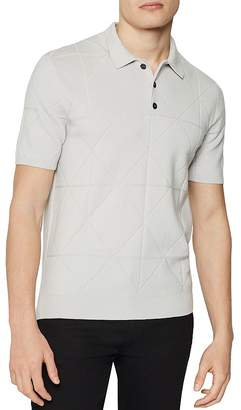 Reiss Douglas Diamond Regular Fit Polo Shirt