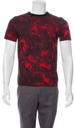 Christian Dior Abstract Print Crew Neck T-Shirt
