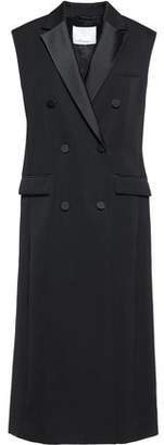3.1 Phillip Lim Double-Breasted Silk Satin-Trimmed Wool-Twill Gilet