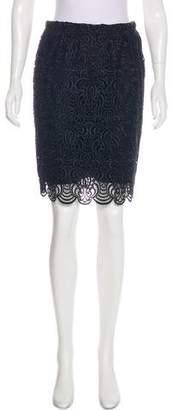 Lela Rose Knee-Length Lace Skirt
