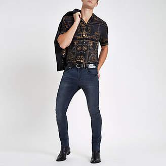 River Island Mens RI 30 dark Blue skinny jeans