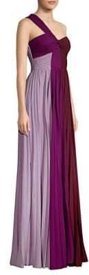 AMUR Lynn One-Shoulder Maxi Dress