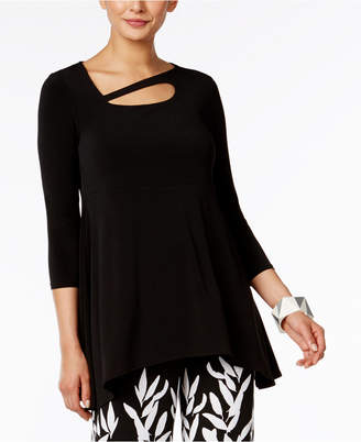 Alfani Asymmetrical Cutout Top, Only at Macy's $59.50 thestylecure.com