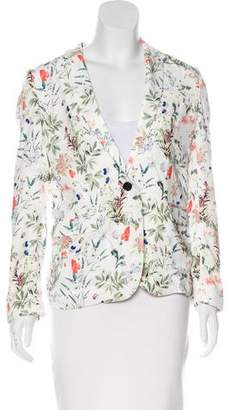 The Kooples Floral Print Notched-Lapel Blazer