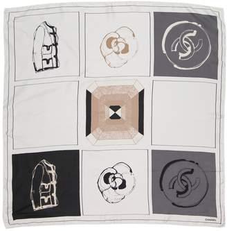 Chanel White Silk Scarves