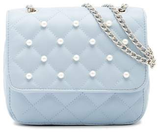 T-Shirt & Jeans Mini Quilted Faux Pearl Crossbody Bag