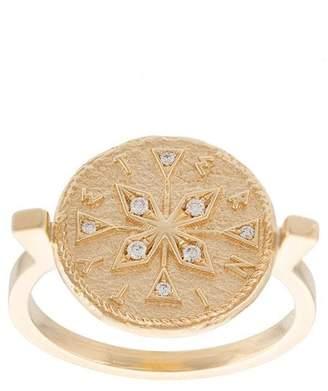 Azlee Compass Coin ダイヤモンド リング