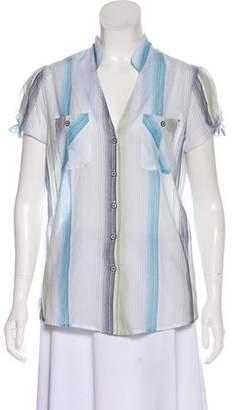 Trovata Striped Button-Up Top