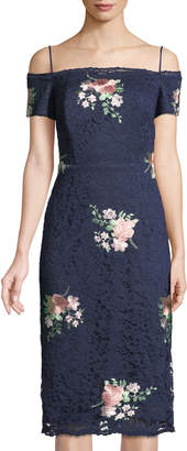 6e63811715 ... Nicole Miller New York Off-The-Shoulder Floral-Embroidered Lace  Cocktail Dress