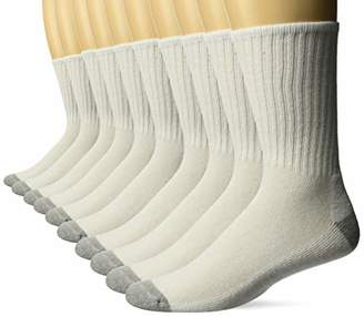 Amazon Essentials Men's 10-Pack Cotton Cushioned Crew Socks