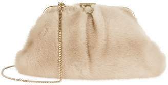 Alessandra Rich Medium Mink Clutch