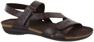 Easy Street Shoes Womens Winnie Adjustable Strap Flat Sandals
