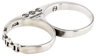 Hoorsenbuhs Diamond Double Barrel Knuckle Ring
