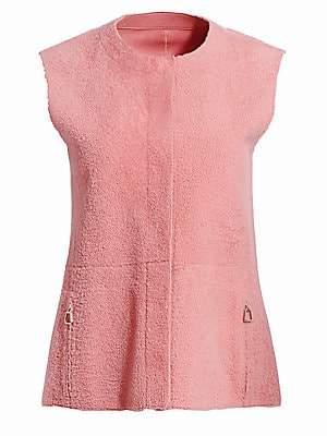 Akris Women's Gulia Reversible Shearling & Leather Vest
