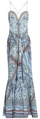 Camilla Crystal-Embellished Printed Cotton-Jersey Maxi Dress