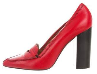 3.1 Phillip Lim Pointed-Toe Leather Pumps