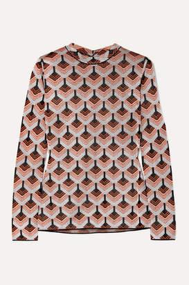 Paco Rabanne Metallic Jacquard-knit Top - Orange