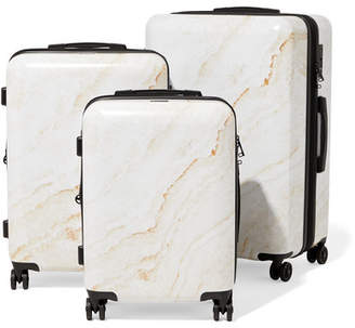 CalPak Metallic Marbled Hardshell Suitcase Set - Gold