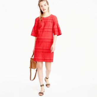 Petite flutter-sleeve shift dress in eyelet $118 thestylecure.com
