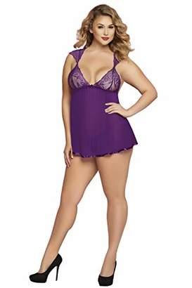 e4926813b7 Seven Til Midnight Seven 'til Midnight Women's Plus-Size Cap Sleeve  Babydoll Set