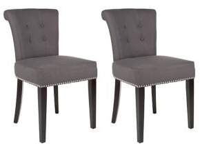 Safavieh Sinclair Set of Two Nail Heads Ring Chairs
