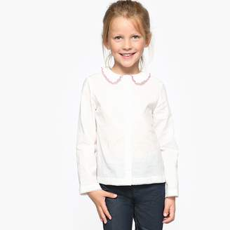 La Redoute Collections Blouse with Embroidered Collar, 3-12 Years
