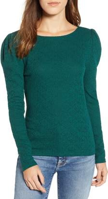 Hinge Lace Puff Sleeve Top
