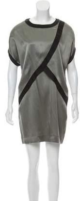 Prabal Gurung Silk Blend Contrast Trim Dress