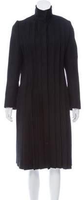 Givenchy Plisse Wool Coat