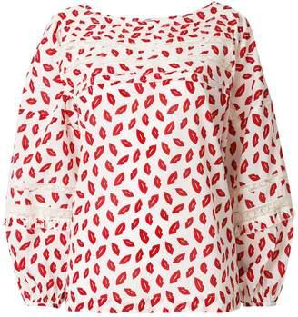 P.A.R.O.S.H. lip print blouse