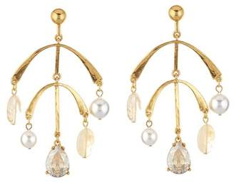Oscar de la Renta Mobile Drop Earring with Imitation Pearl