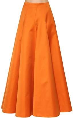 Rochas Tehcno Gabardine Long Skirt