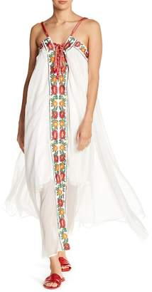 Love + Harmony Front Embroidered Panel Maxi Dress