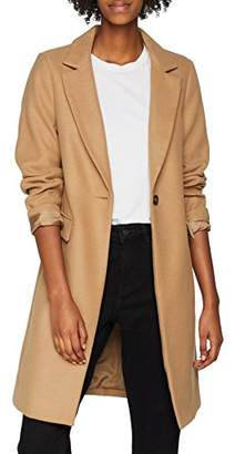 New Look Women's Smart Coat, Beige (Camel (Manufacturer Size:)