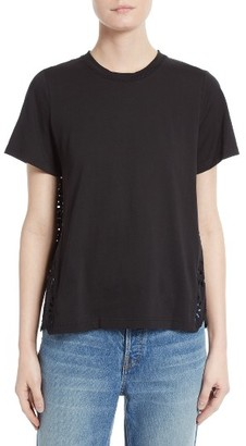 Women's Sea Eyelet Tee $185 thestylecure.com