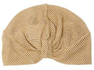 Missoni Mare - Knotted Metallic Mesh Turban Hat - Womens - Gold