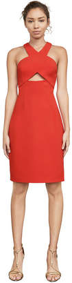 BCBGMAXAZRIA Carly Cutout Halter Dress