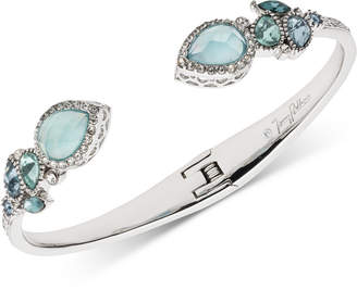 Jenny Packham Silver-Tone Pave & Stone Cuff Bracelet