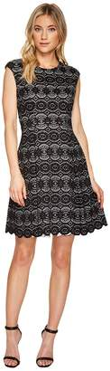 Vince Camuto Bonded Lace Fit Flare Dress Women's Dress