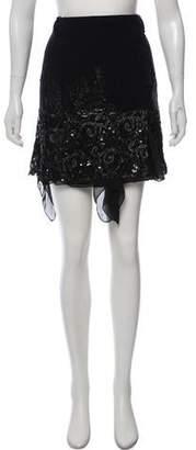 Blayde Sequin-Accented Knee-Length Skirt