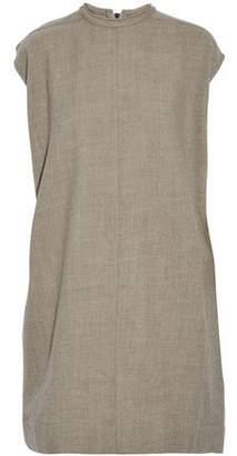 Rick Owens Marled Wool-Twill Dress