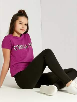 M&Co Teens' C'est La Vie slogan top