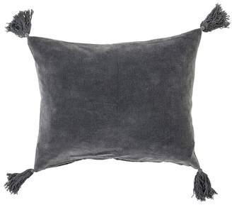 Bloomingville Grey Velvet Tassel Cushion