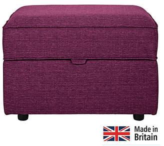 Argos Home Clara Fabric Storage Footstool - Plum