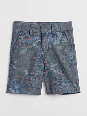 Gap Floral Chambray Shorts
