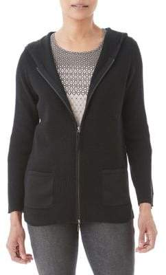 Olsen Hooded Zip Cardigan
