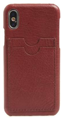 Madewell Card Slot Leather iPhone X/Xs Case