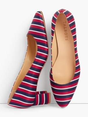 Talbots Kelsey Block-Heel Pumps - Stripe