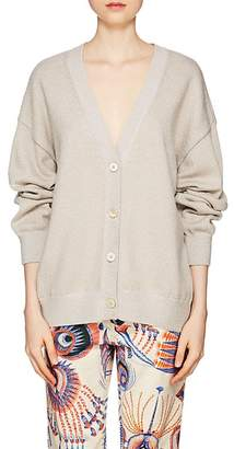 Dries Van Noten Women's Metallic-Knit Merino Wool-Blend Cardigan